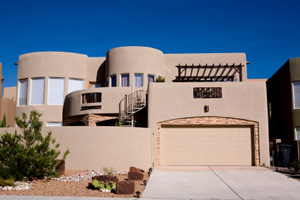 Contemporary Adobe Home Albuquerque